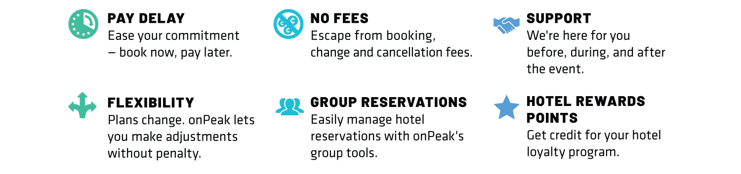 Benefits of Booking with onPeak