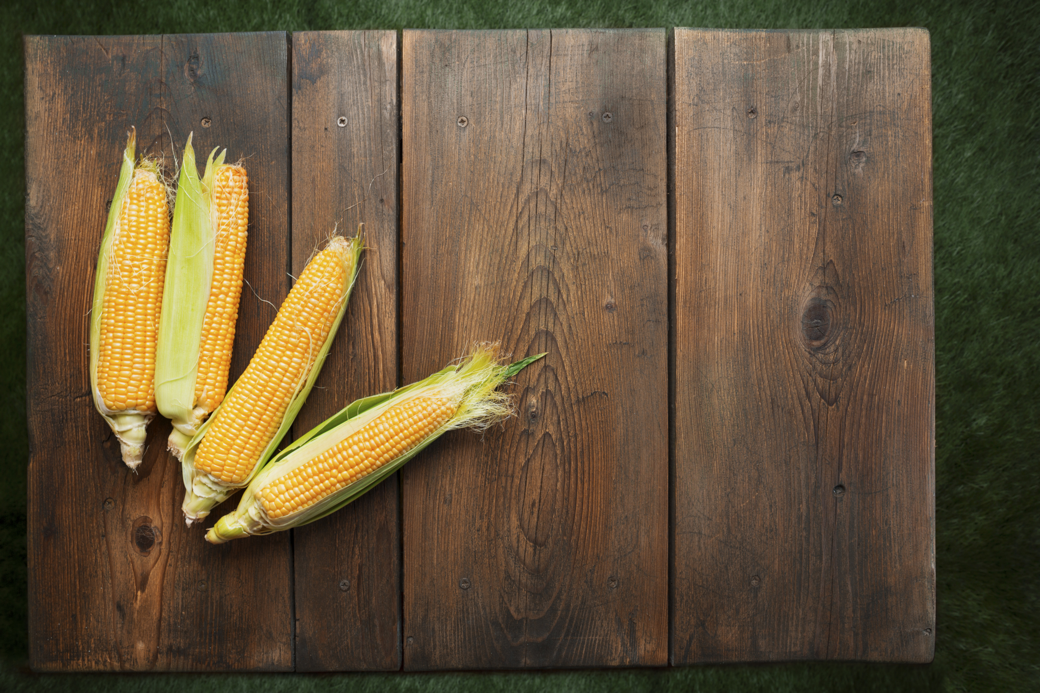 Corn on wood