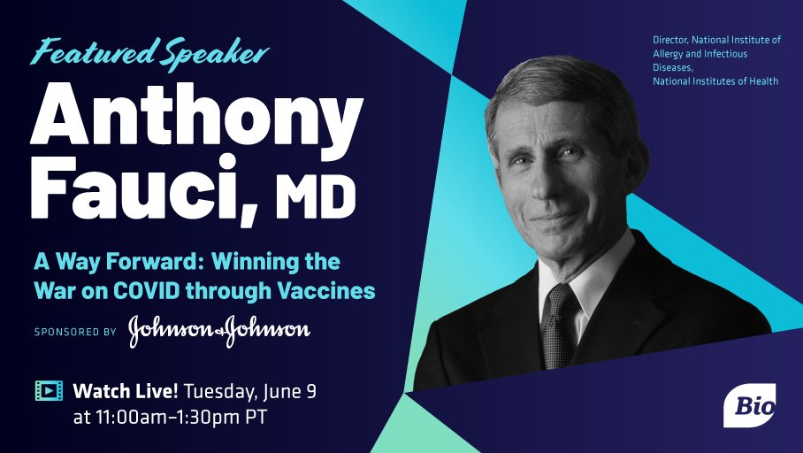 Dr. Fauci - Tuesday June 9 at BIO Digital