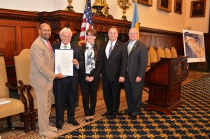 Jim Greenwood with Mayor Nutter and proclamation