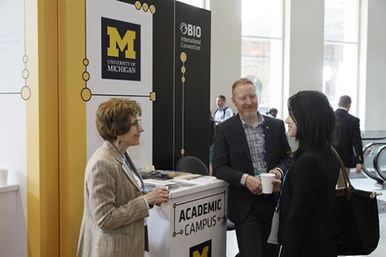 BIO 2019 Attendees Networking at the Academic Campus