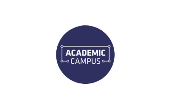 Academic Campus logo on blue background