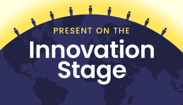 join the innovation stage, image of a globe
