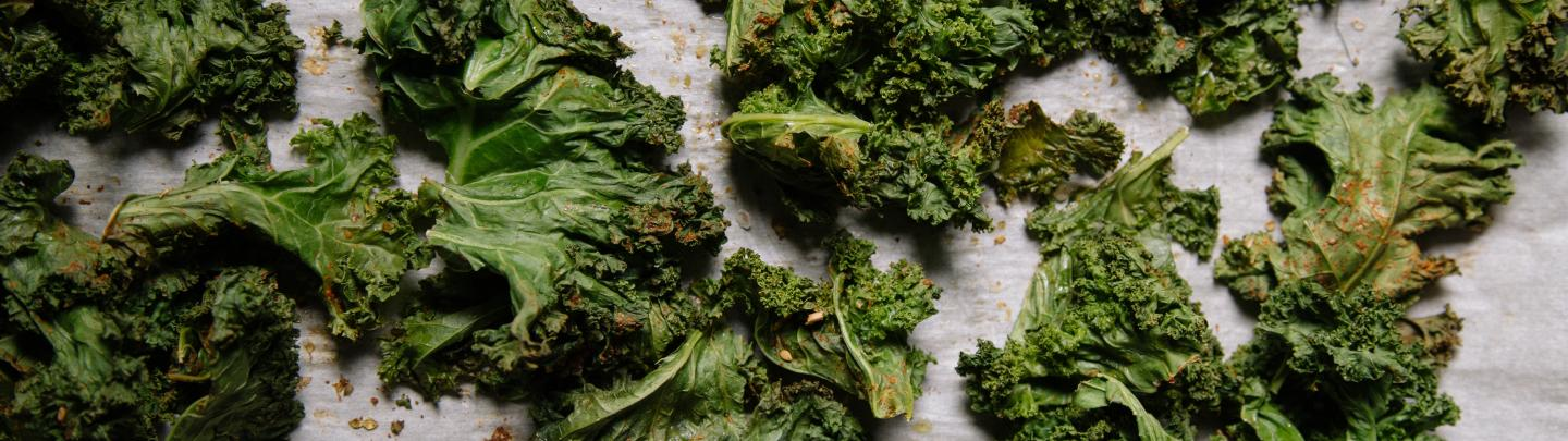 lightly crisped kale chips